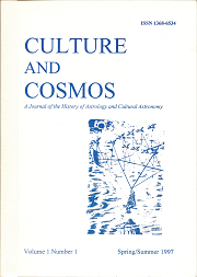 Culture and Cosmos Vol 1-1