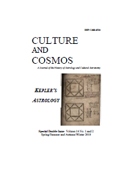 Culture and Cosmos Vol 14