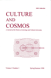 Culture and Cosmos Vol 2-1