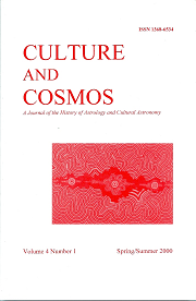 Culture and Cosmos Vol 4-1