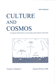 Culture and Cosmos Vol 4-2