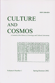 Culture and Cosmos Vol 6-1