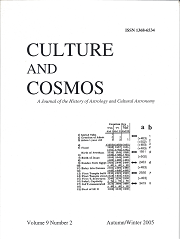 Culture and Cosmos Vol 9-2